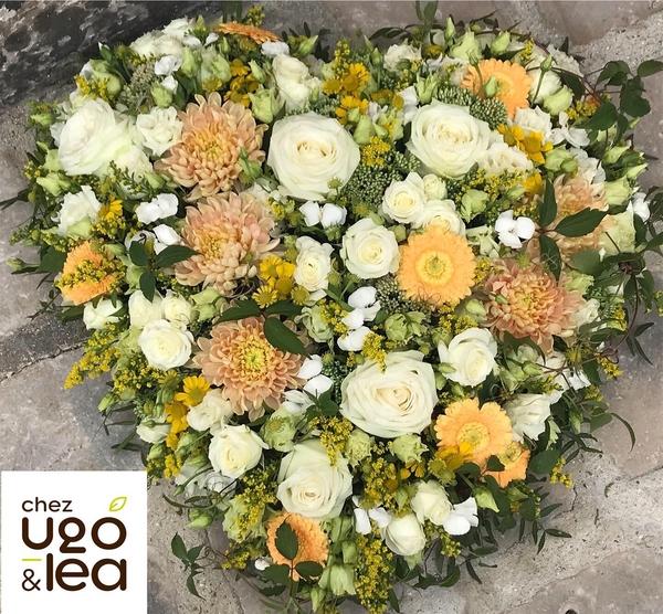 CHEZ UGO & LÉA Deuil Coeur de fleurs
