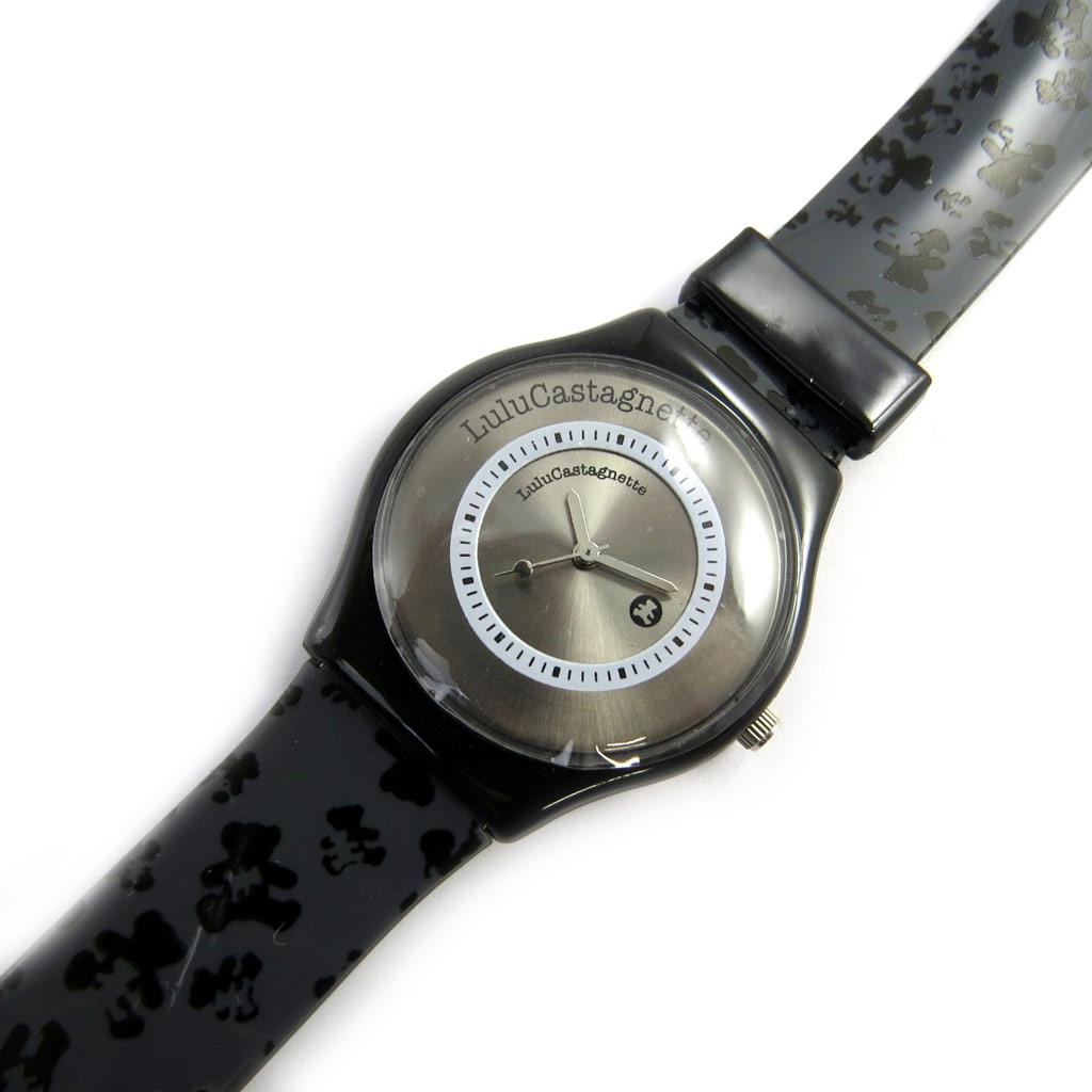 Montre créateur \'Lulu Castagnette\' noir gris (peluches monogramme) - [M1217]
