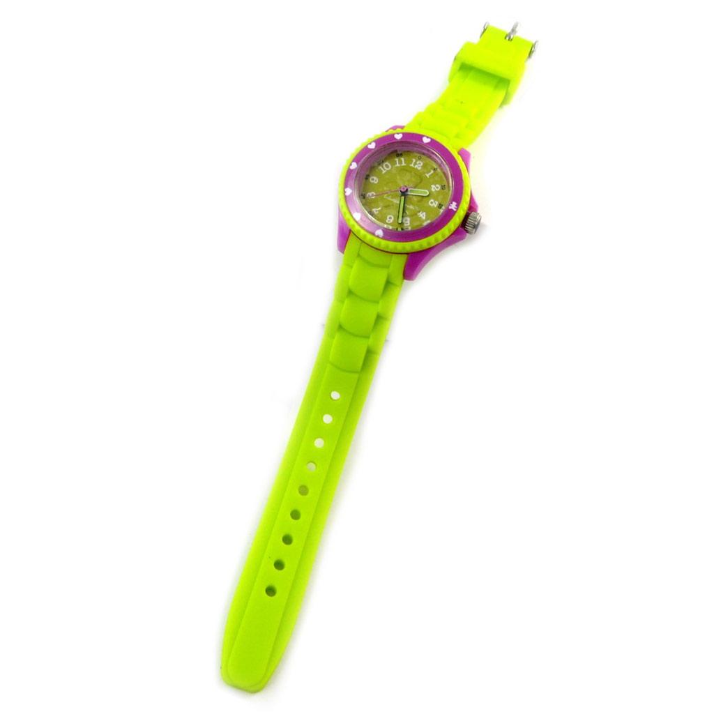 Montre silicone \'Lulu Castagnette\' vert violet - [M1226]