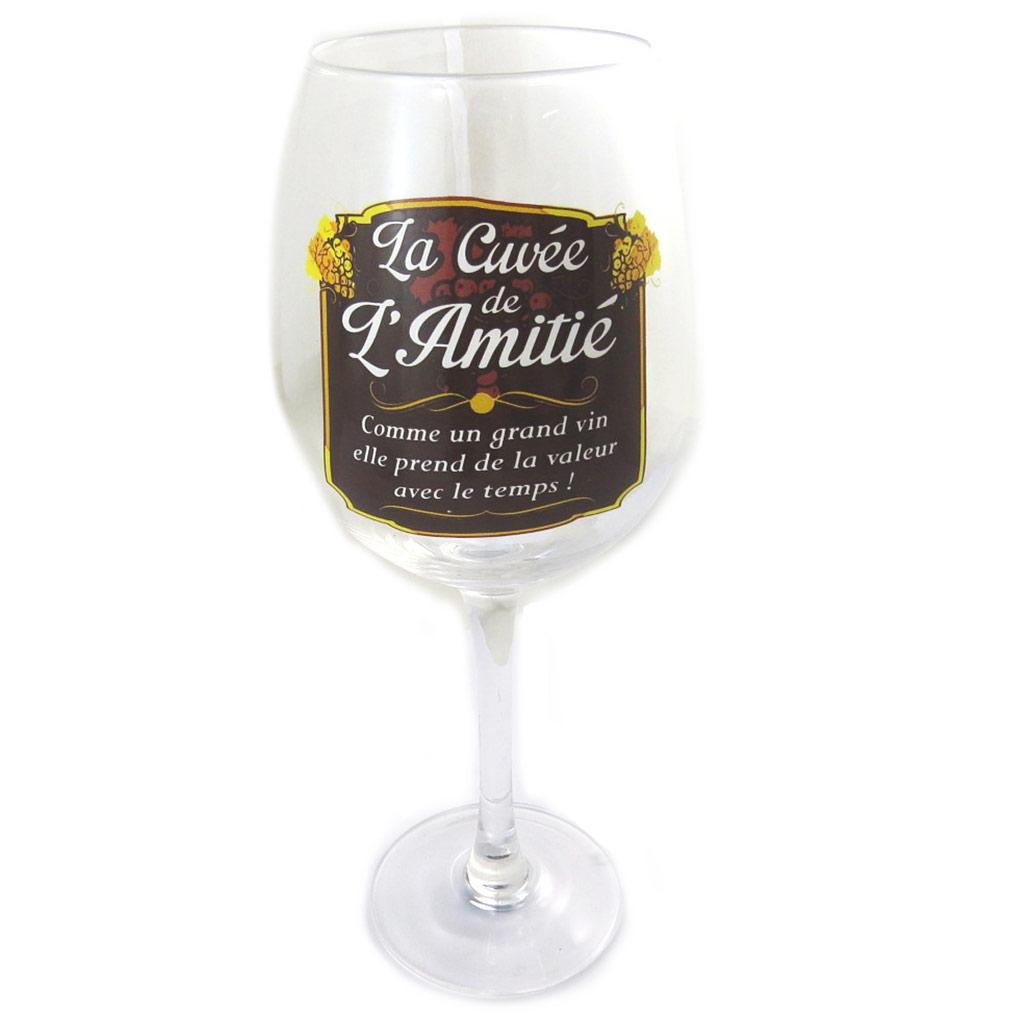 Verre à vin \'La Cuvée de l\'Amitié\'  - [N6163]