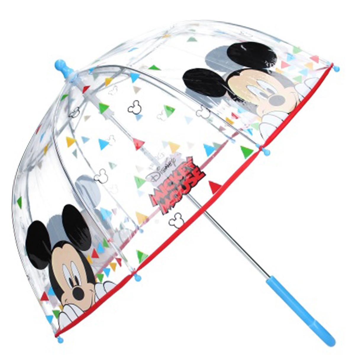 Parapluie cloche enfant \'Mickey\' multicolore - 61 cm, diamètre 63 cm - [Q9744]