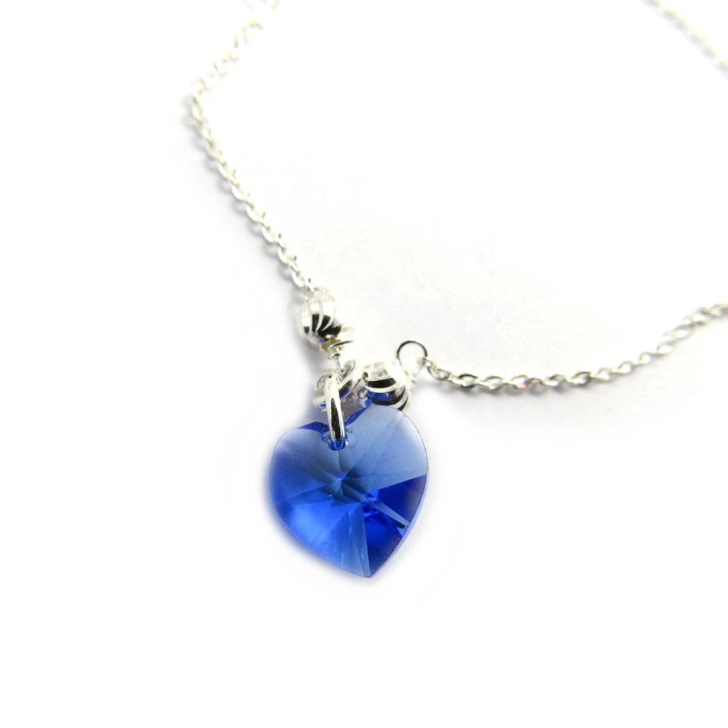 Bracelet Argent \'Love\' bleu (cristal) - [M1771]