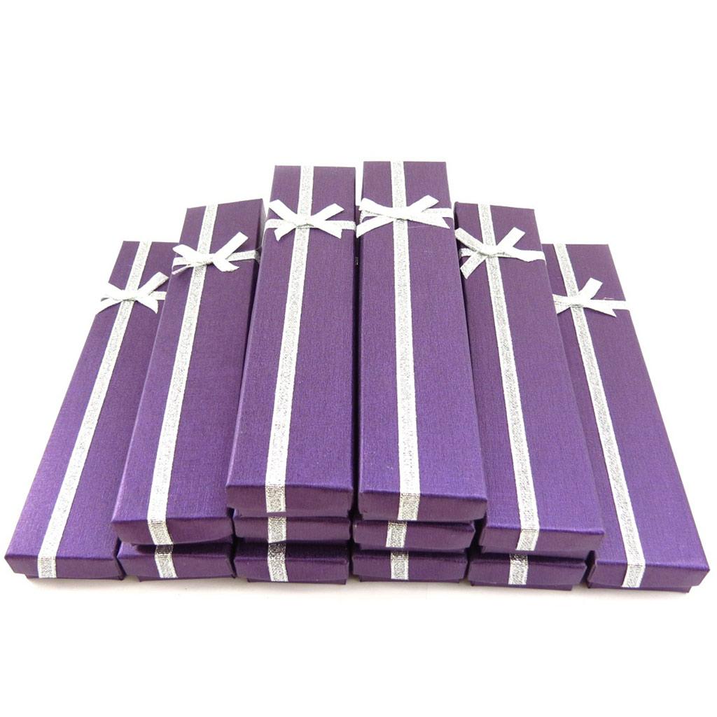 12 écrins bracelet \'Glamour\' violet - [K5842]