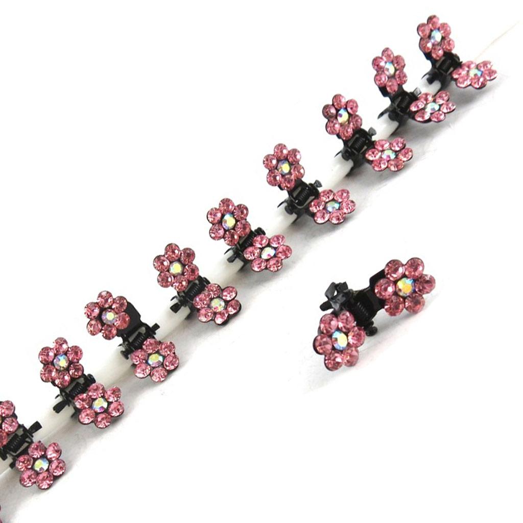 12 minis pinces \'Sissi\' rose pèche - [K7982]