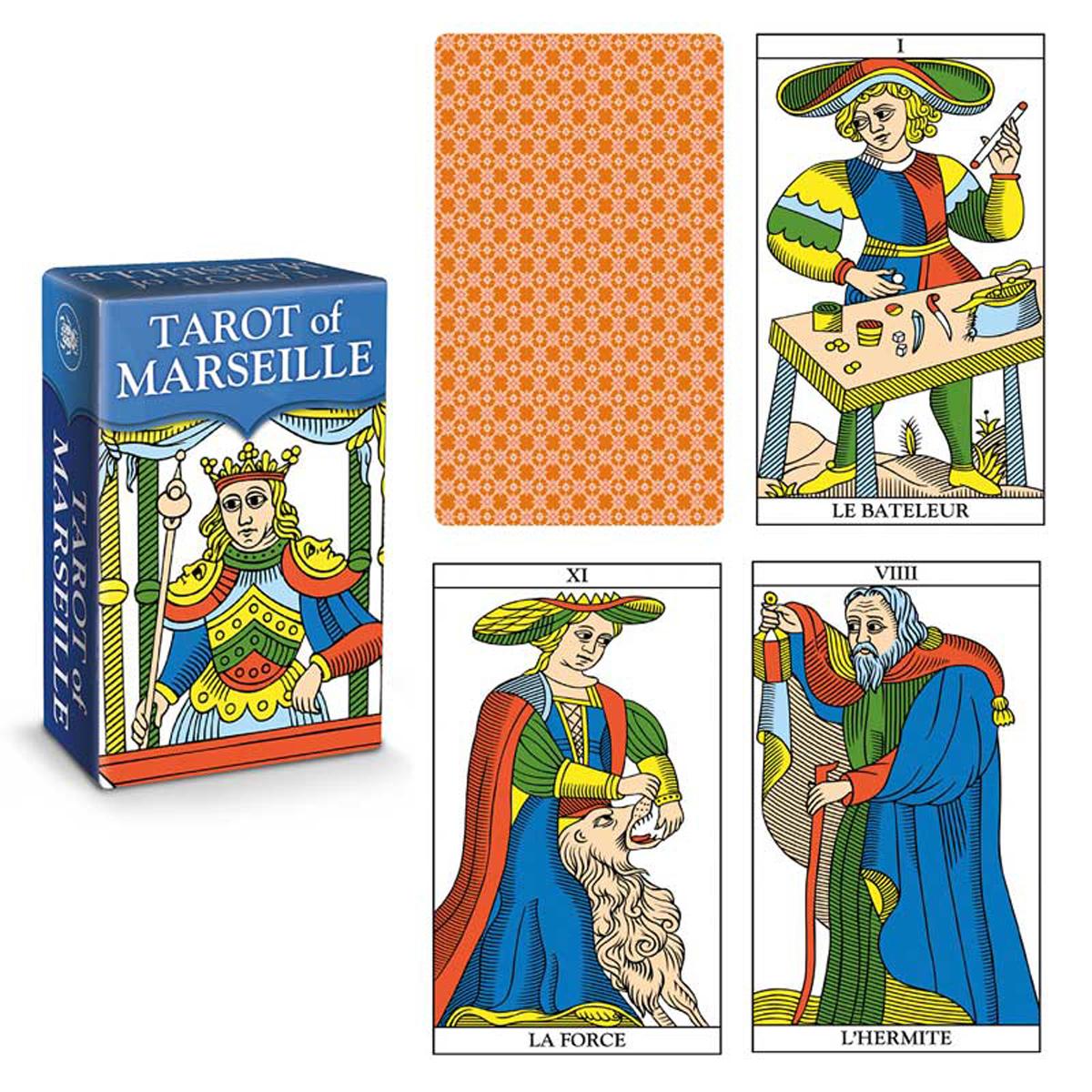 Mini tarot créateur \'Tarot de Marseille\' - 9x6x4 cm - [R2813]