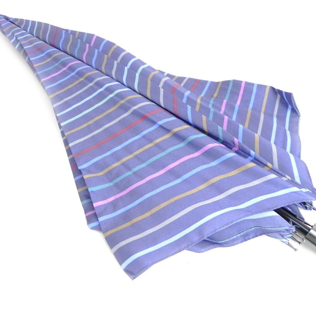 Parapluie Neyrat \'Bayadère\' multicolore bleu canne - [I0219]