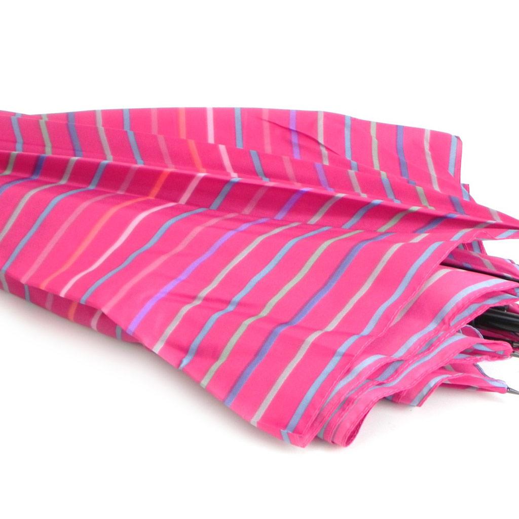 Parapluie Neyrat \'Bayadère\' multicolore rose canne - [I0220]