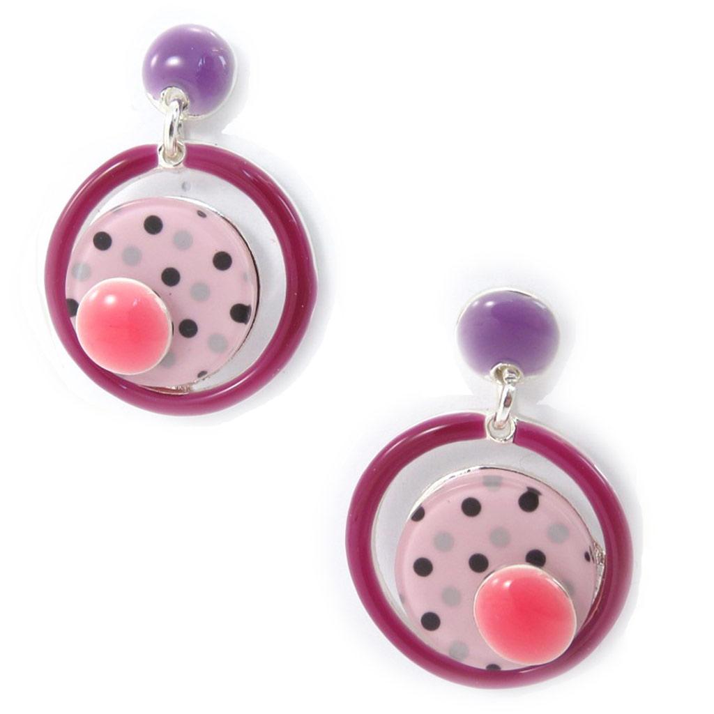 Boucles Créateur \'Coloriage\' rose violet - [K0232]