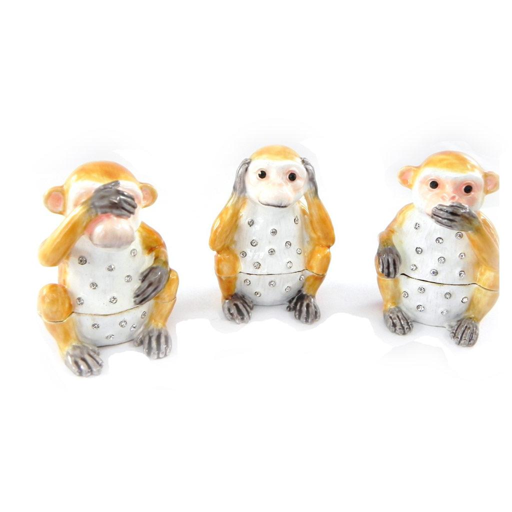 Coffrets à Bijoux \'les 3 singes de la Sagesse\'  - [I0397]