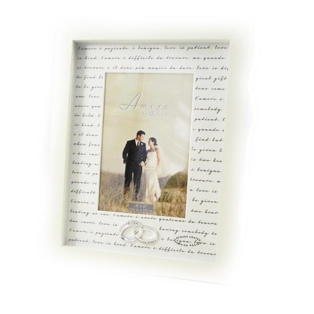 Cadre Photo \'Alliances\' ivoire 10x15 cm - [I0424]
