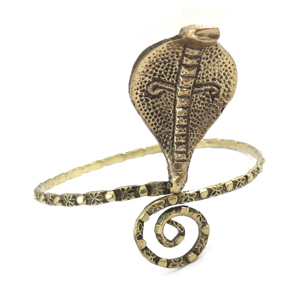 Bracelet bras créateur \'Cobra\' doré - [K0278]