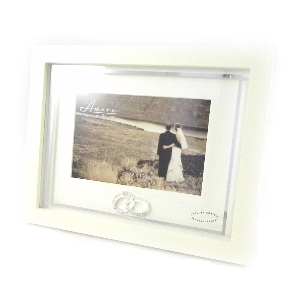 Cadre Photo \'Alliances\' ivoire 15x10 cm - [I0425]