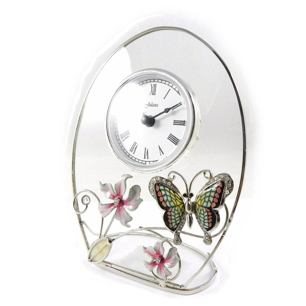 Horloge \'Papillon de Soie\' rose  - [I0480]