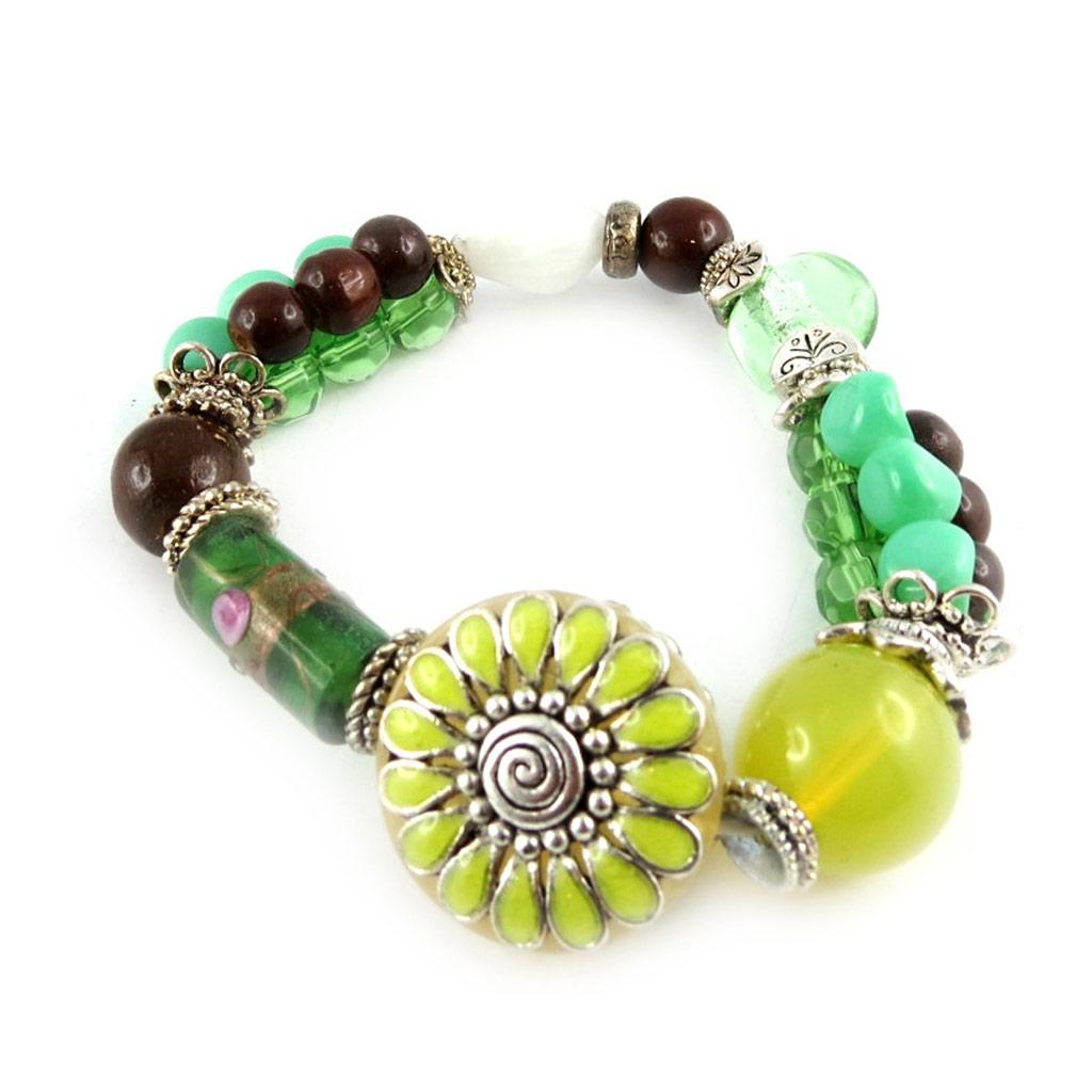 Bracelet Créateur \'Douchka\' Vert  - [E0468]