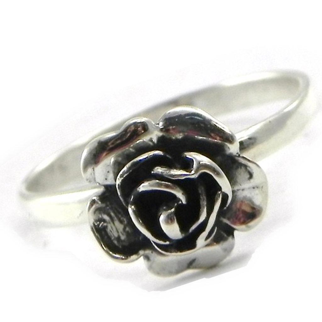 Bague Argent \'Rose Romantique\'  - [B7609]