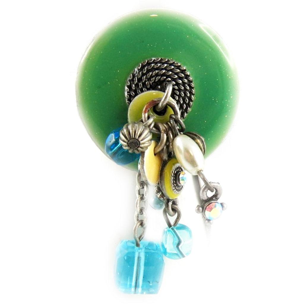 Bague Créateur \'Mimosas\' vert  - [E0582]