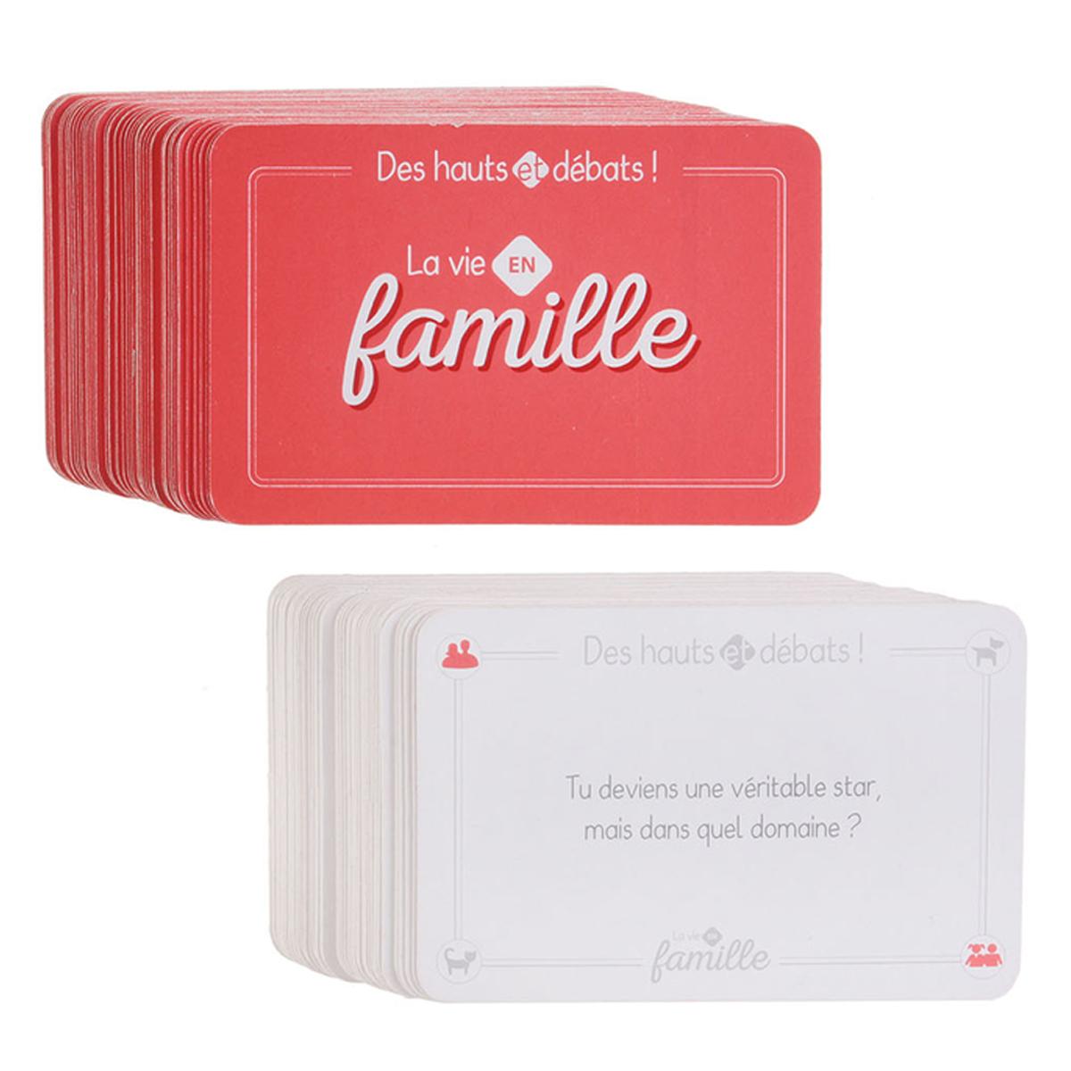 Jeu de cartes \'La vie en Famille\' (54 cartes) - 84x55x30 mm - [R0015]