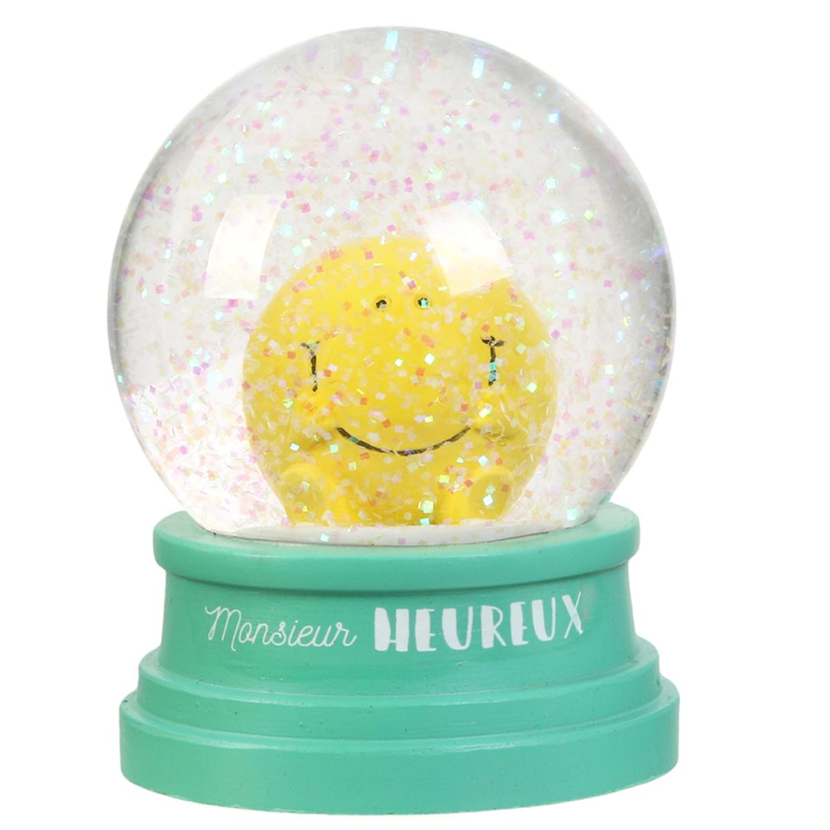 Boule de neige \'Monsieur Madame\' vert (M Heureux) - 10x75 cm - [R0050]