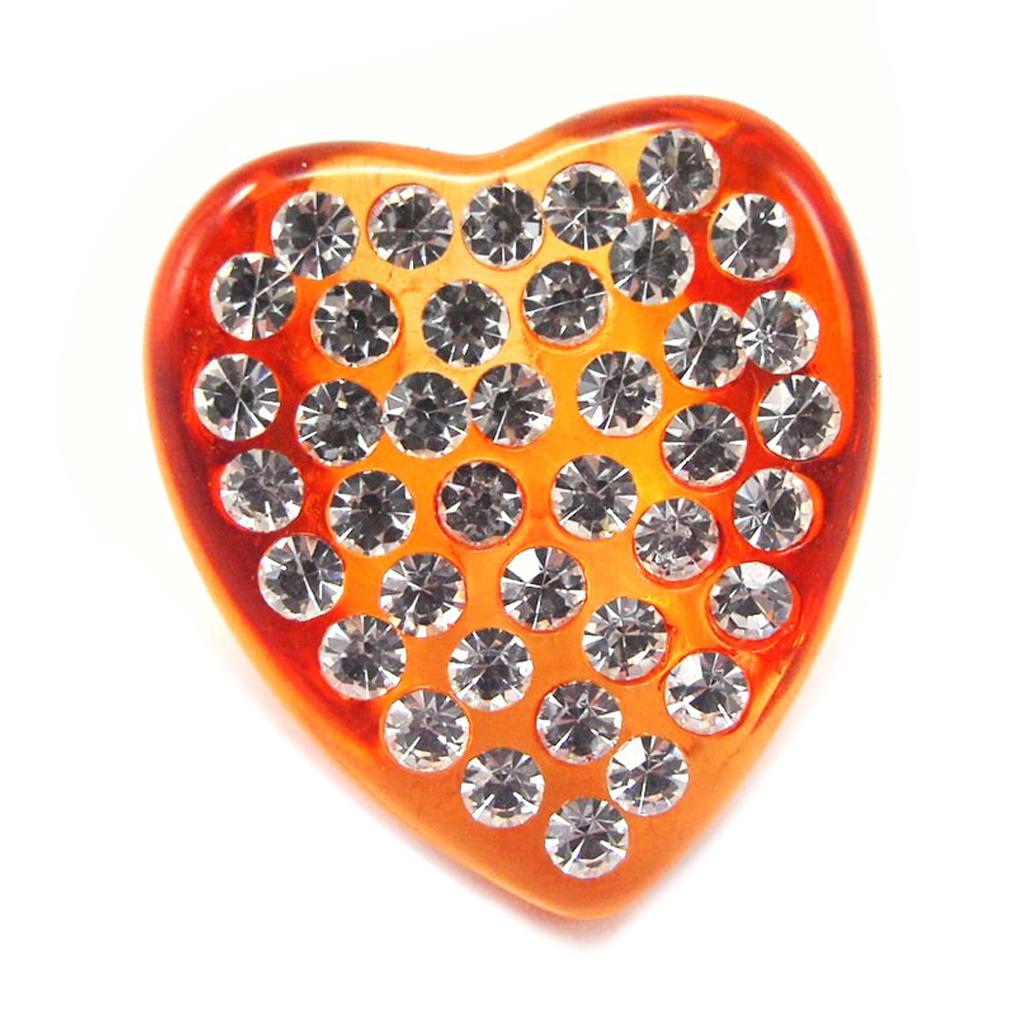 Bague \'Illuminations\' Coeur Orange - [F2262]
