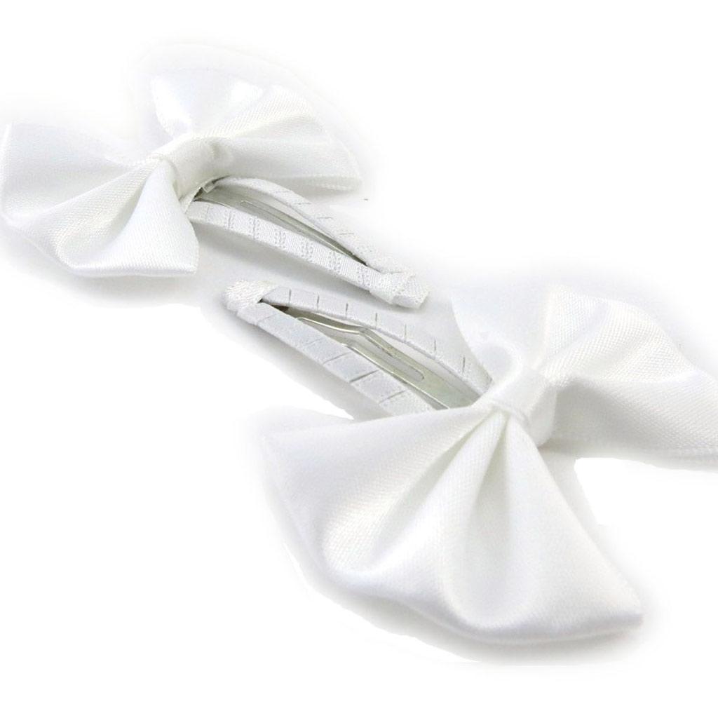 Paire de barrettes \'Pureté\' blanc - [J0437]