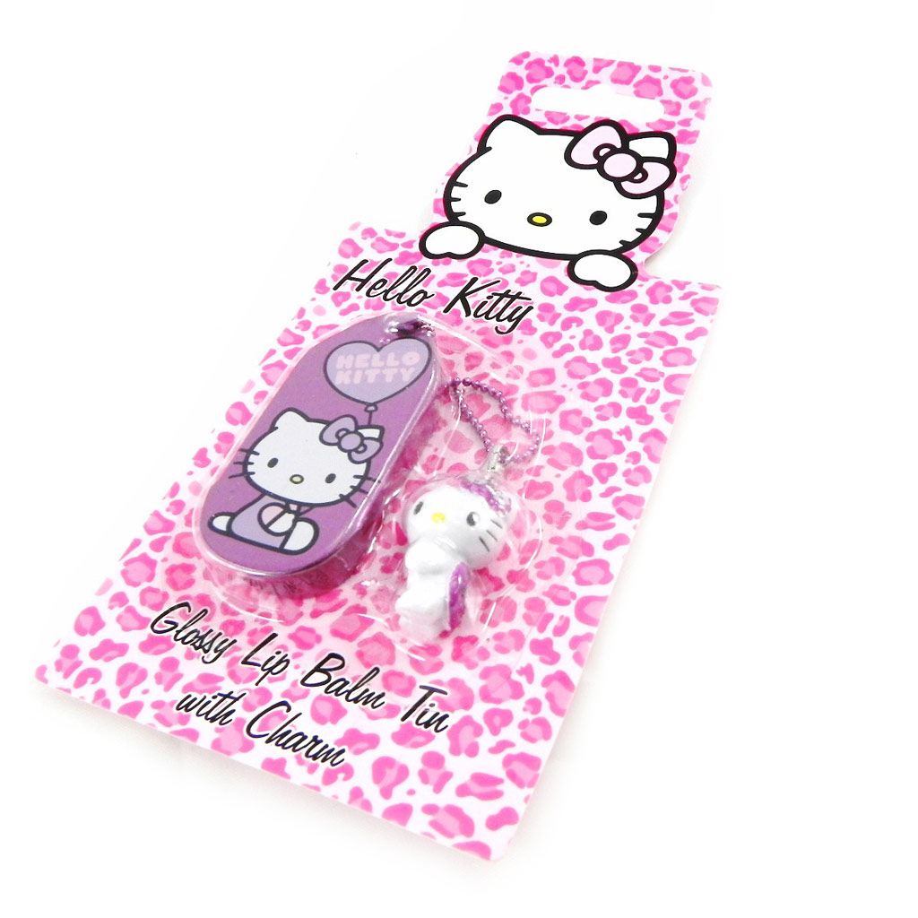 Gloss \'Hello Kitty\' violet + accessoire téléphone - [H1796]