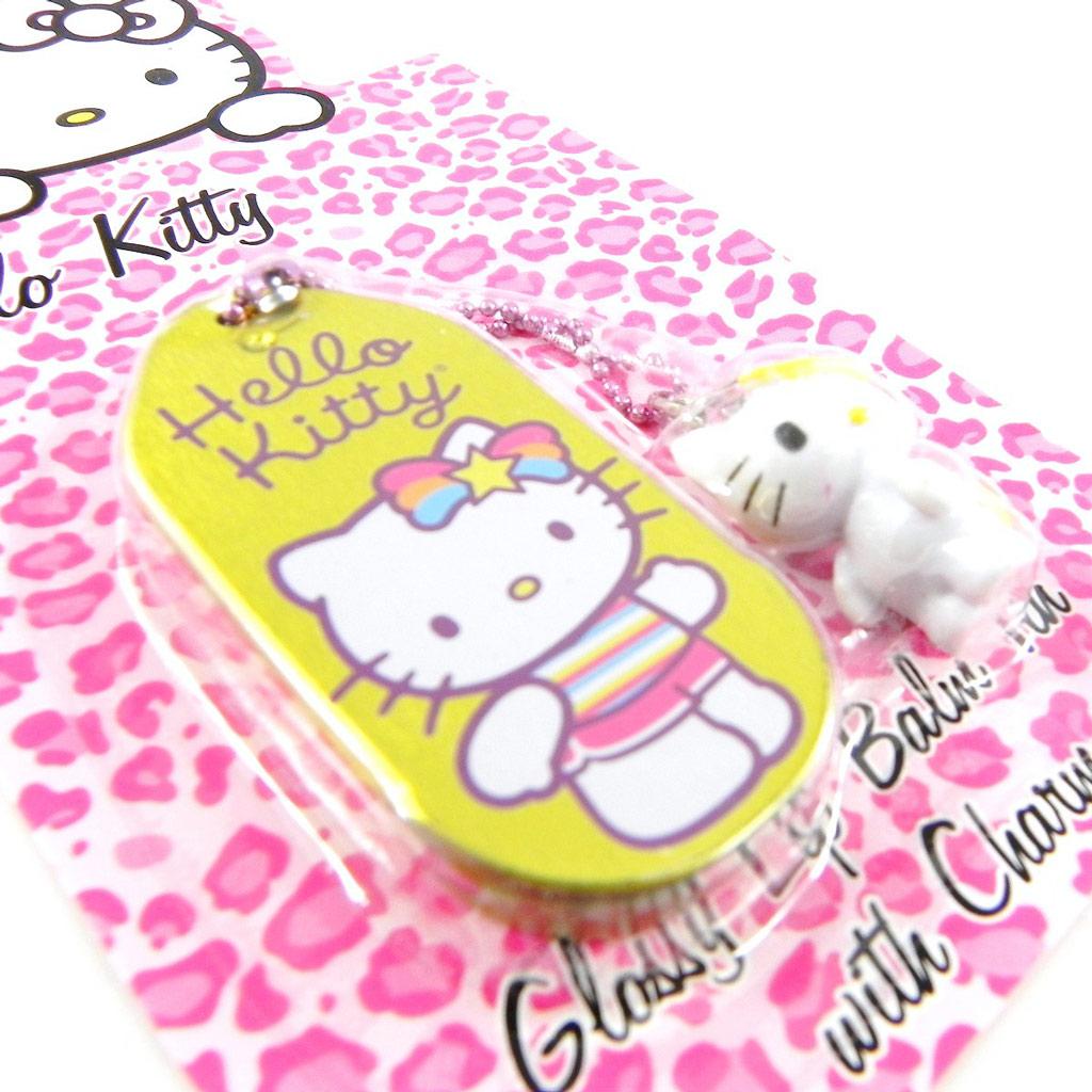 Gloss \'Hello Kitty\' jaune + accessoire téléphone - [H1798]