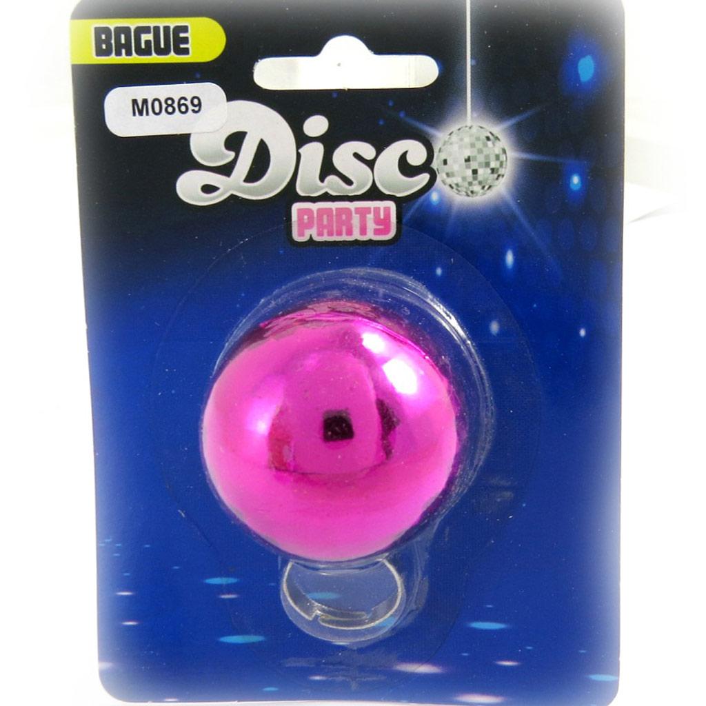 Bague \'Disco\' rose - [M0869]