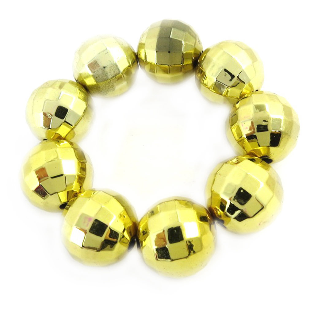 Bracelet \'Disco\' doré - [M0873]