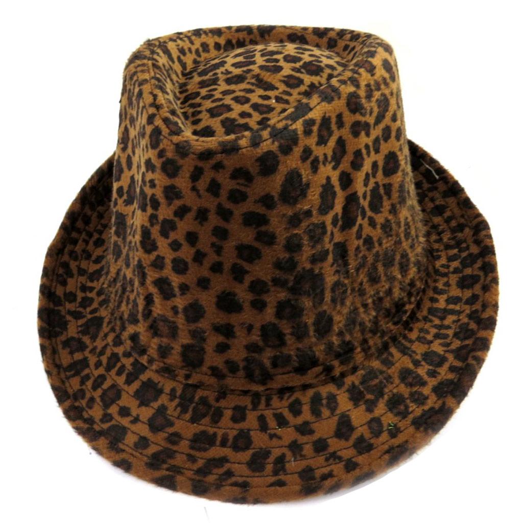 Borsalino \'Leopard\' marron - [M0877]