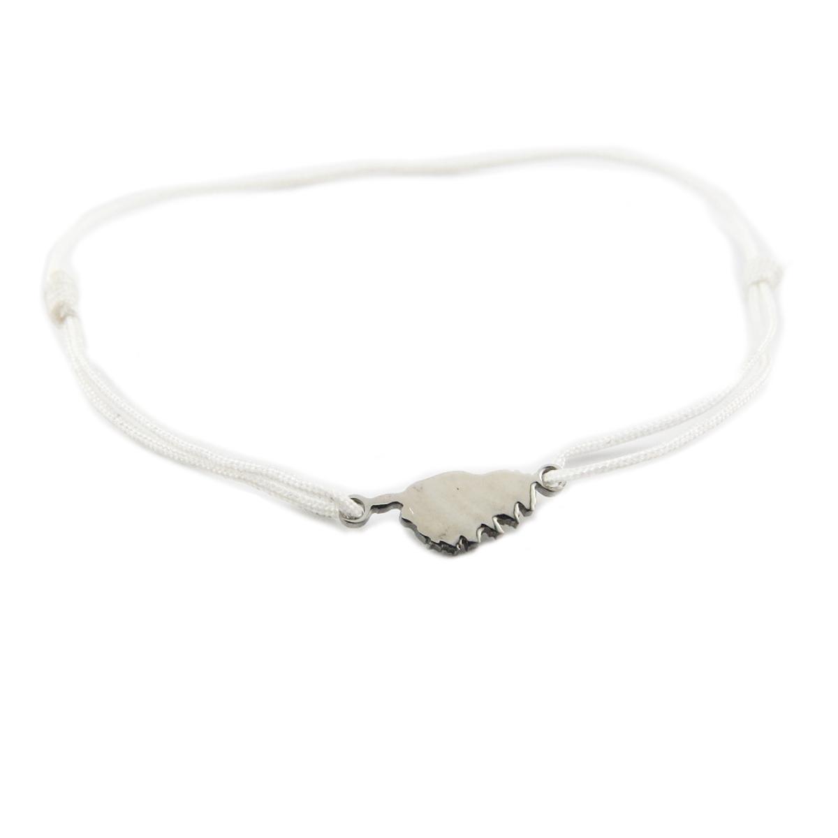 Bracelet acier \'Corsica\' blanc argenté (corse) - 10x7 mm - [R0156]
