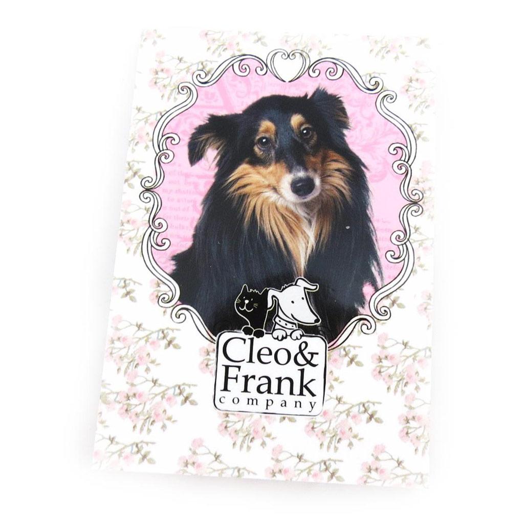 Bloc note A7 \'Cleo & Frank\' rose blanc - [J0778]