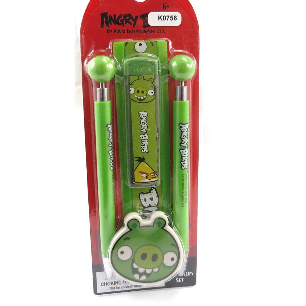 Set papeterie \'Angry Birds\' vert - [K0756]