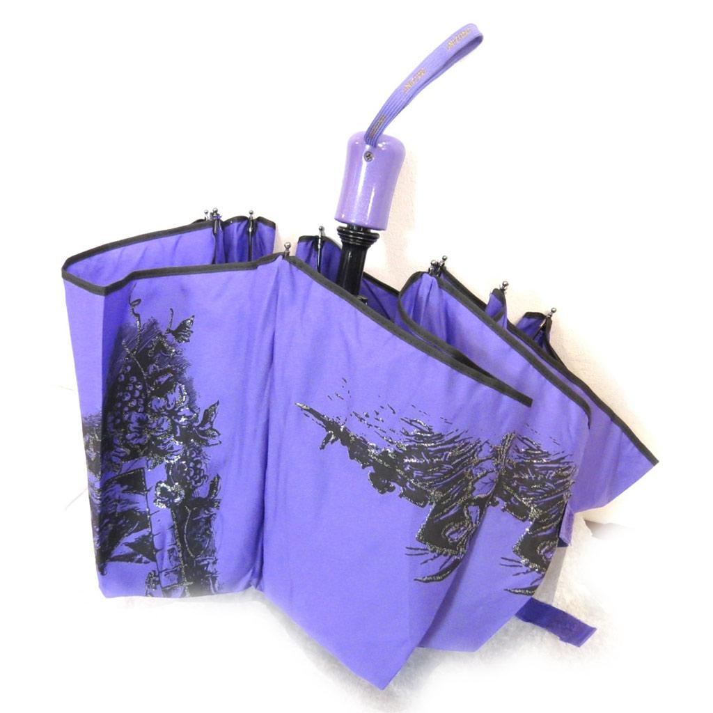 Parapluie automatique \'Tour du Monde\' violet  - [K0860]
