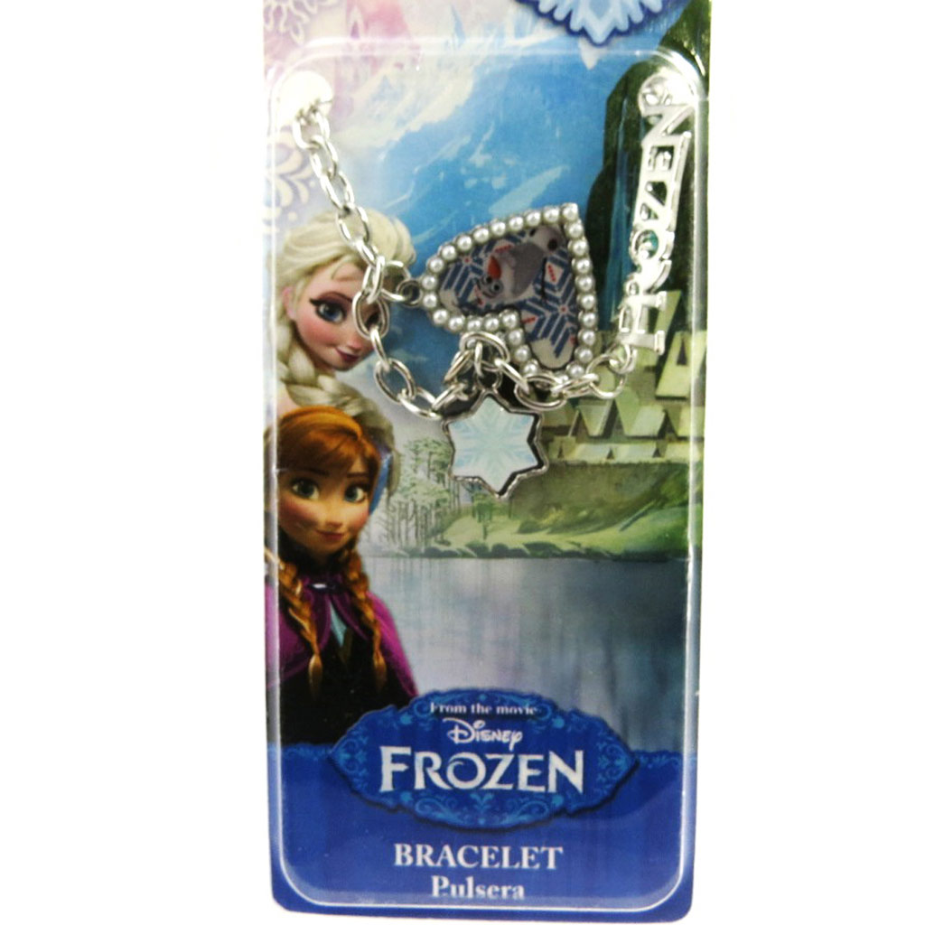 Bracelet créateur \'Frozen - Reine des Neiges\'  coeur (Olaf) - [M1039]