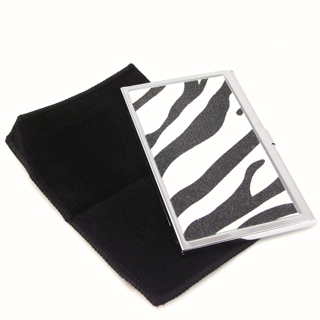Porte-Cartes \'Zèbra\' Noir Blanc - [F4894]