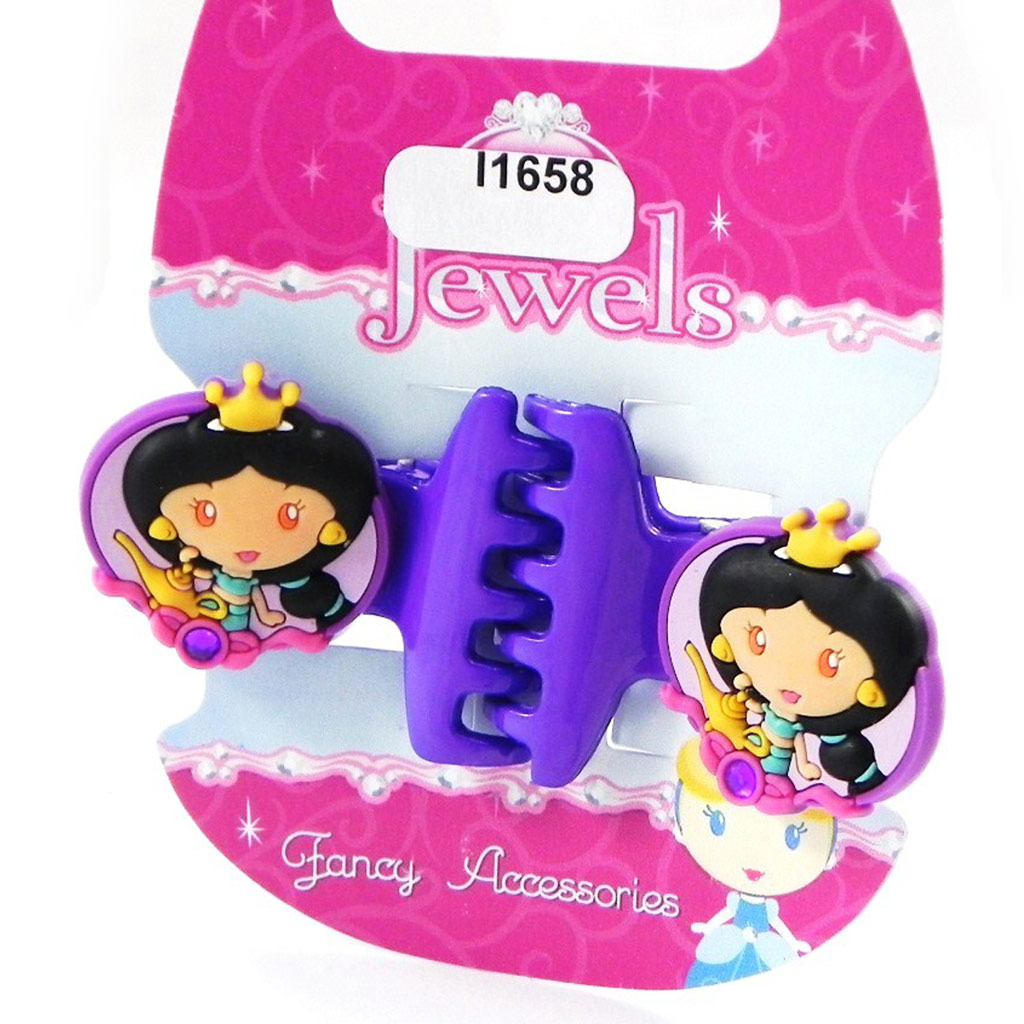 Paire de pinces \'Princess Jewels\' violet - [I1658]