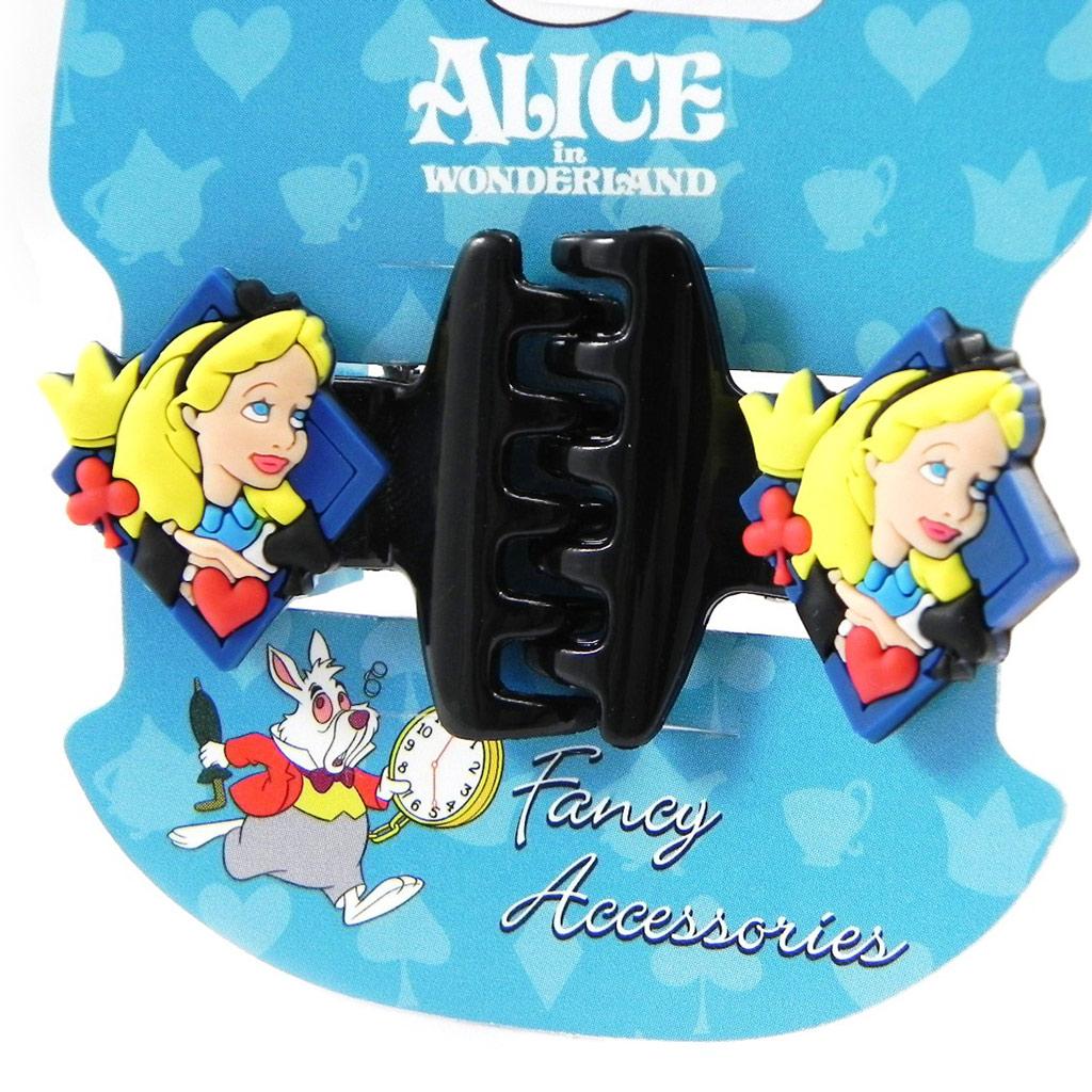 Paire de pinces \'Alice au Pays des Merveilles\' noir - [I1666]