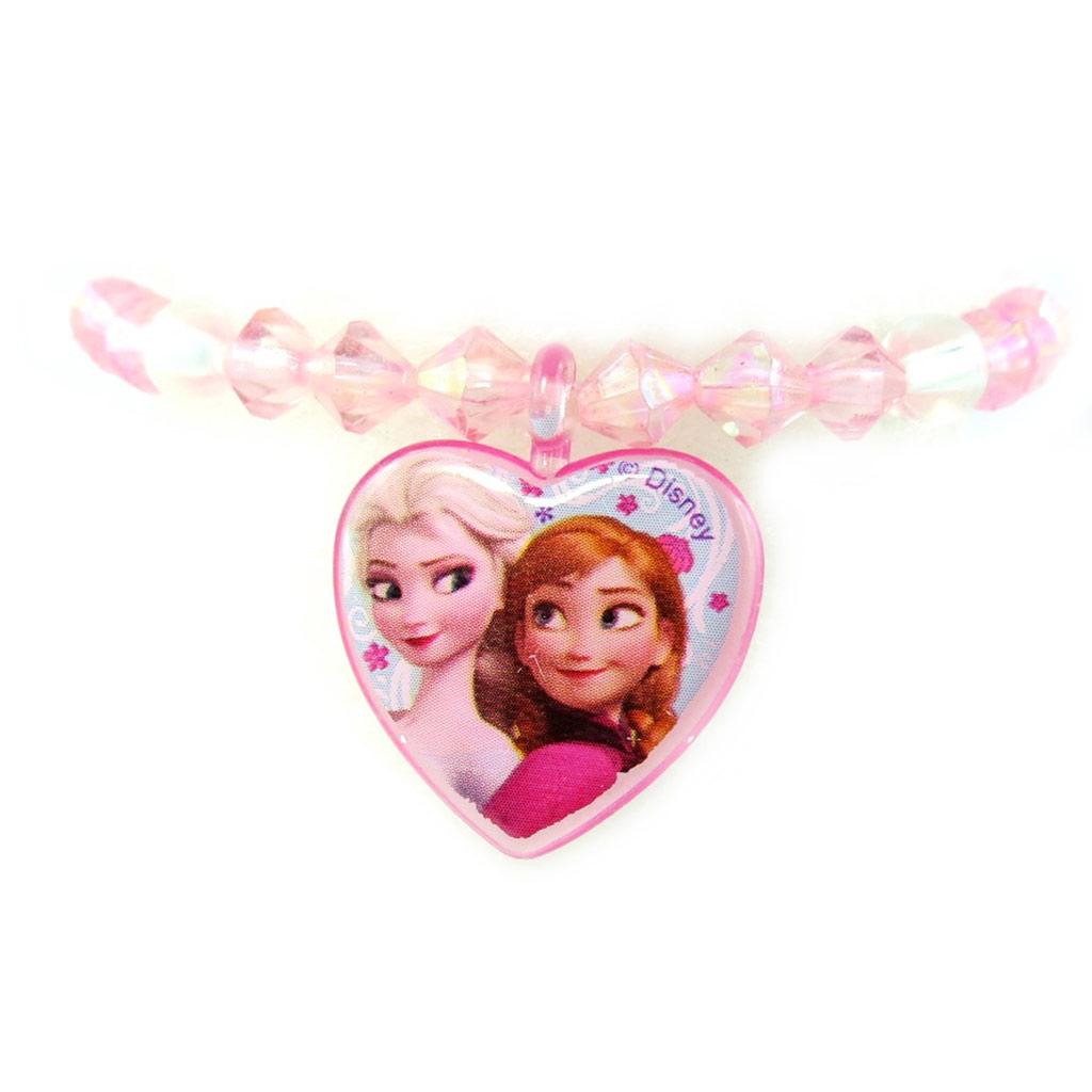 Bracelet créateur \'Frozen - Reine des Neiges\'  coeur rose - [M1072]