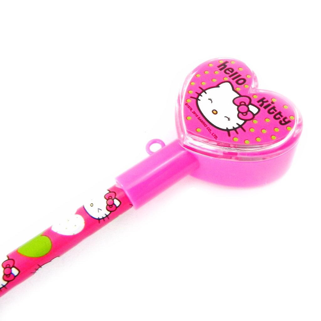 Crayon + taille crayon \'Hello Kitty\' rose fuschia - [I2024]