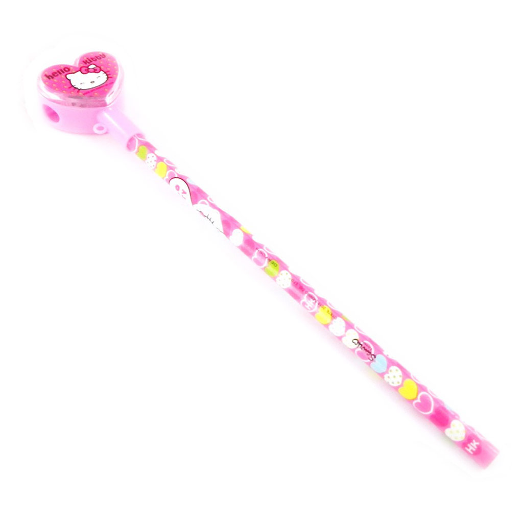 Crayon + taille crayon \'Hello Kitty\' rose  - [I2025]