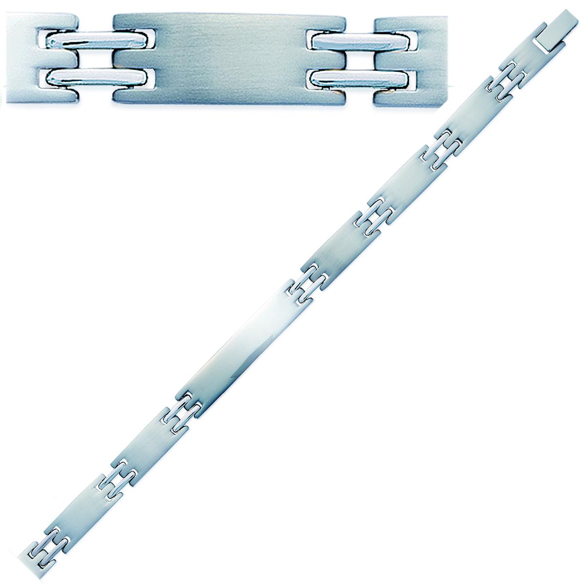 Bracelet Homme \'Peaceful\' acier - 21 cm 8 mm - [K1026]