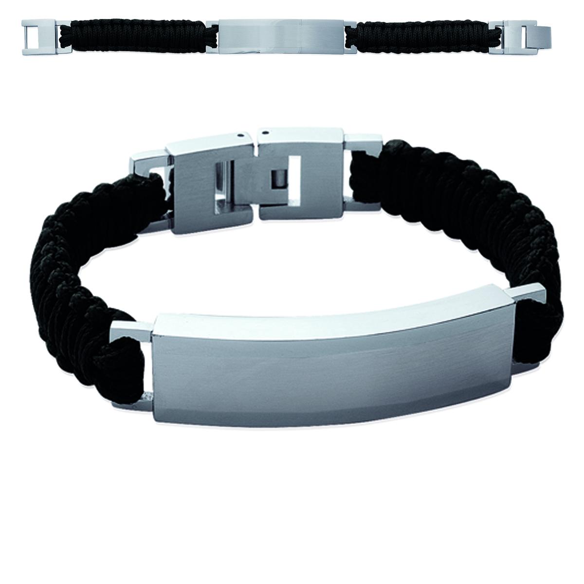 Bracelet Homme \'Peaceful\' acier - 19 cm 10 mm - [K1027]