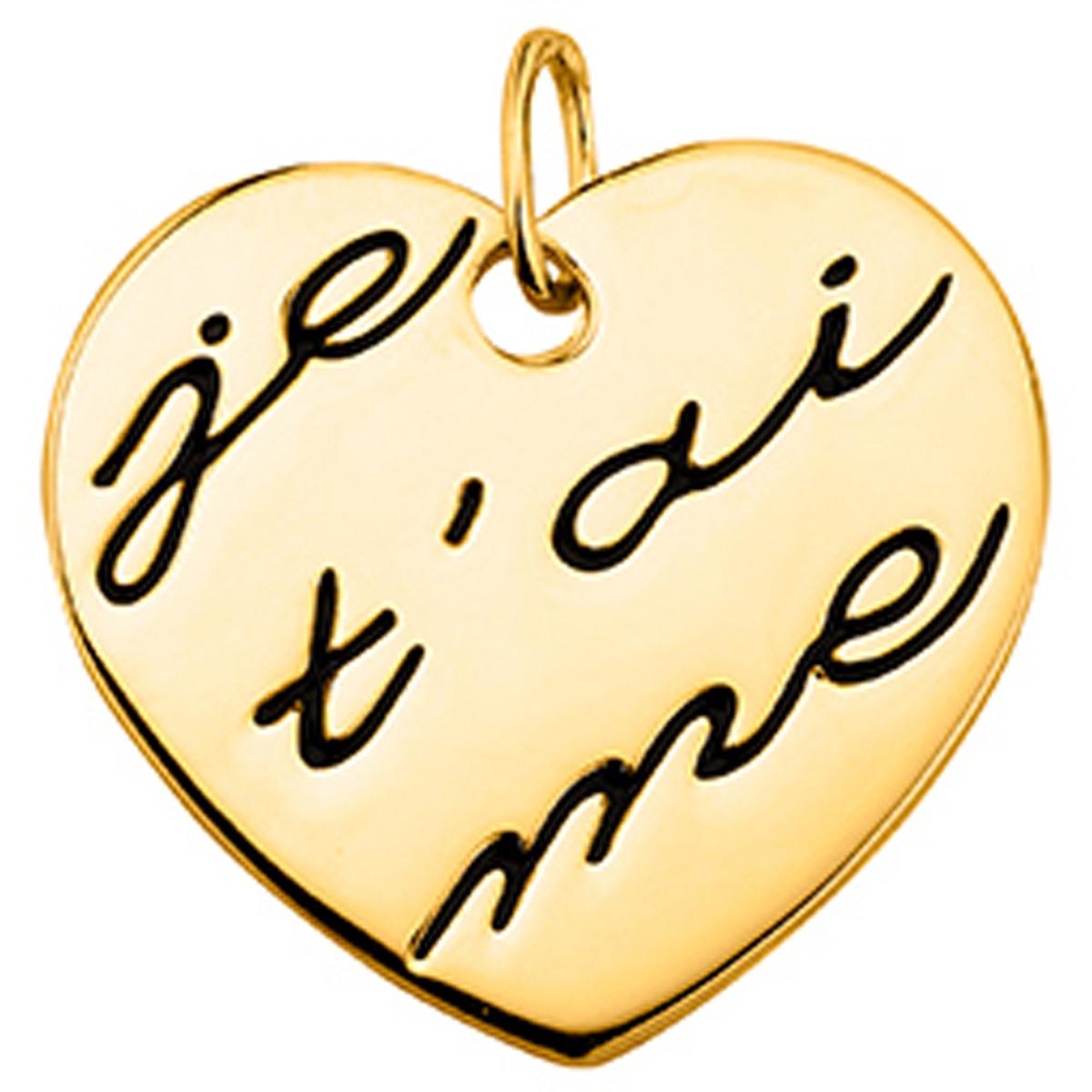 Pendentif plaqué or \'Love\' doré - [M1160]