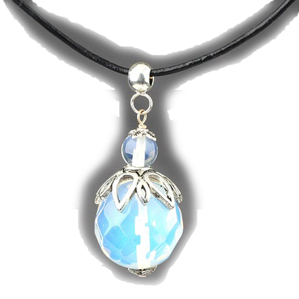 Collier \'Minéralia\' cristal opalescent - [K1167]