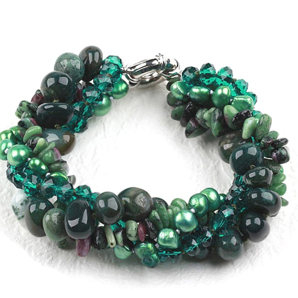 Bracelet \'Mineralia\' vert - [K1173]
