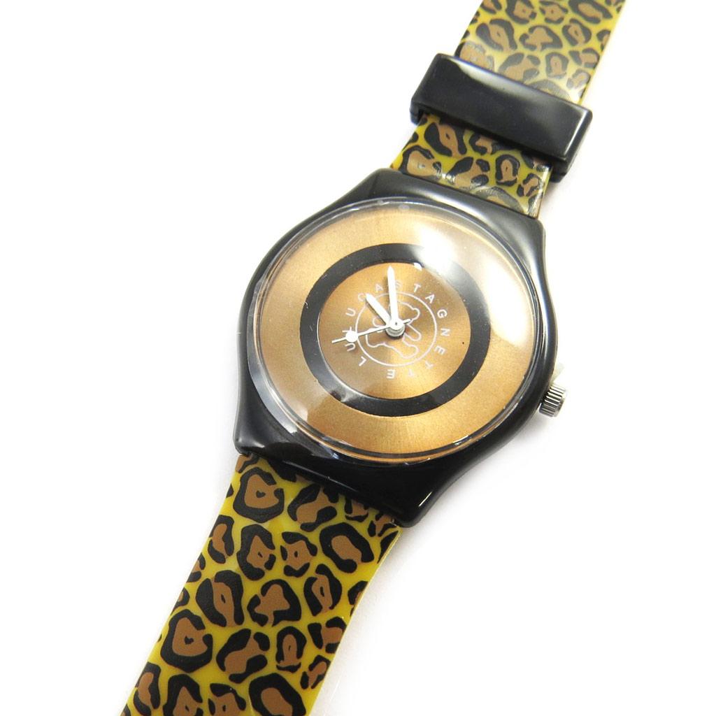 Montre créateur \'Lulu Castagnette\' marron léopard - [M1229]