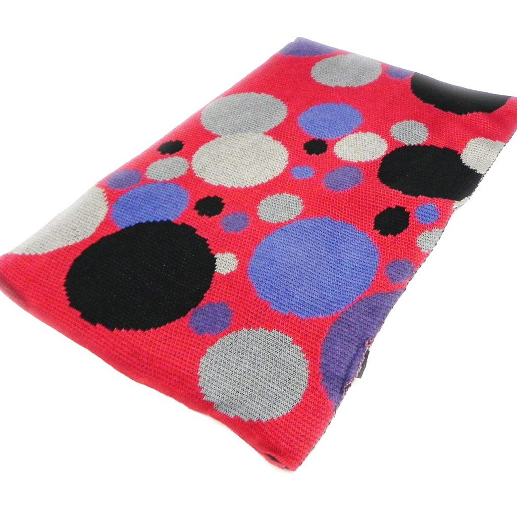 Echarpe \'Coloriage\' rouge bleu noir - [I2299]