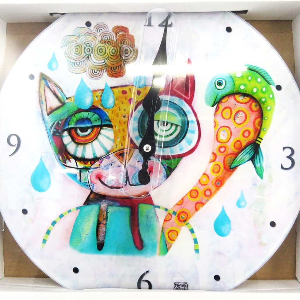 Horloge Murale \'Allen Designs\' chat (30 cm) - [M1334]
