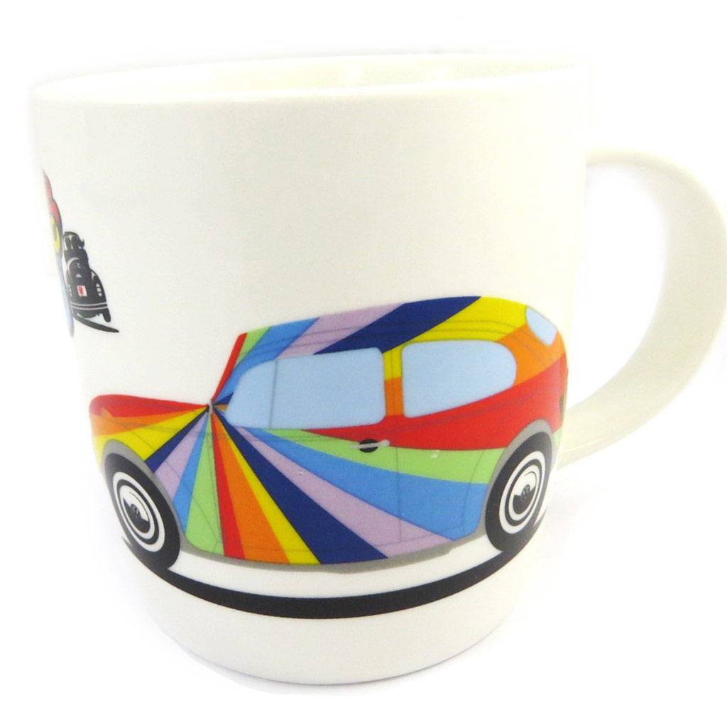 Mug porcelaine \'Coccinelle\' tutti frutti (vintage) - Volkswagen  - [M1396]