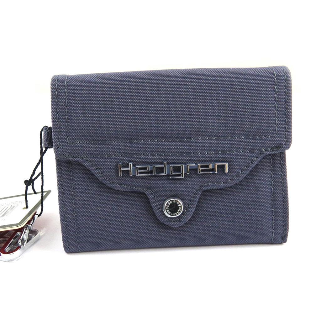 Porte-monnaie toile \'Hedgren\' bleu gris - [M1542]